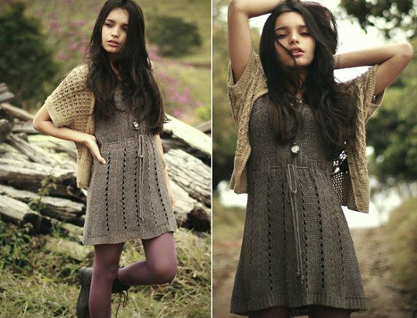591022 591022 Vestidos de tricô modelos dicas 4 Vestidos de tricô: modelos, dicas