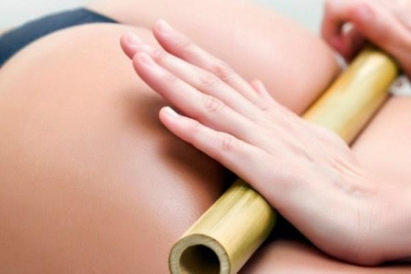 592493 Massagem com bambu para tratar celulites.1 Massagem com bambu para tratar celulites