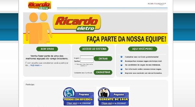59807 Trabalhe Conosco Ricardo Eletro 4 Trabalhe Conosco Ricardo Eletro