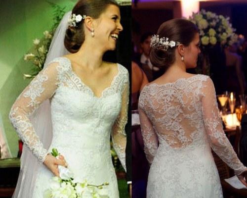 599220 Vestidos de noiva para evangélicas tendências fotos.3 Vestidos de noiva para evangélicas: tendências, fotos