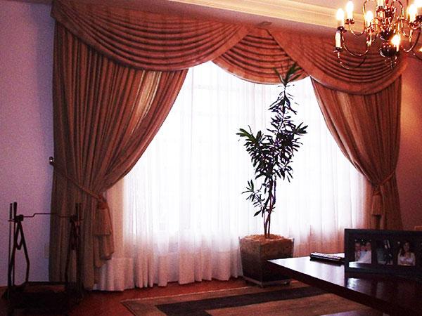 Modelos de cortina de sala for Modelos de sala de casa