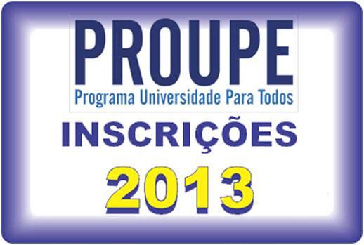 600431 Proupe 2013 inscrições 01 Proupe 2013: inscrições