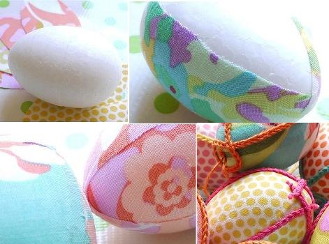 601995 Como decorar ovos de pascoa com tecidos 1 Como decorar ovos de Páscoa com tecidos