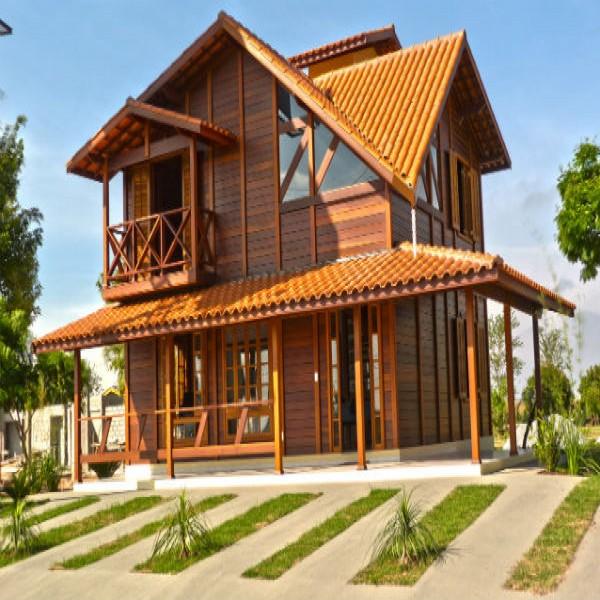 60571 casa de madeira 600x600 Planta de Casas de Madeira