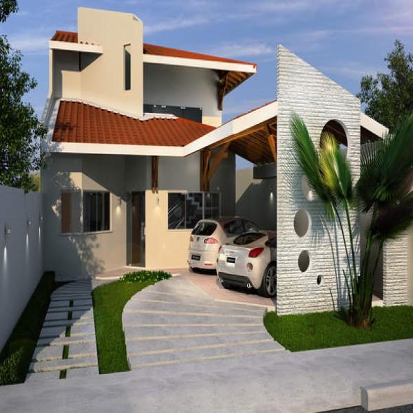 60571 planta casa madeira barbara 3 quartos 600x600 Planta de Casas de Madeira