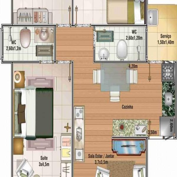 60571 planta casa madeira economica  600x600 Planta de Casas de Madeira