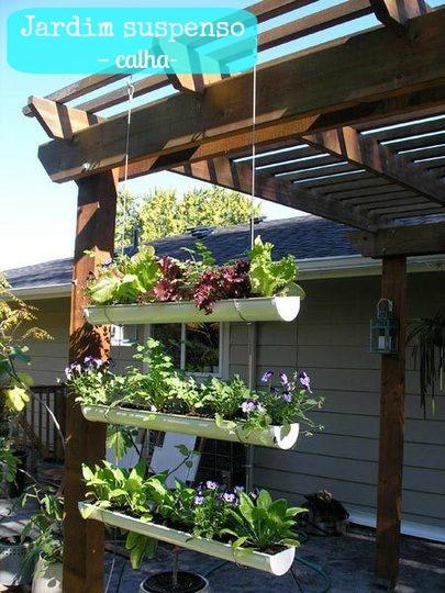 605727 Calhas usadas para jardim Passo a Passo 02 Calhas usadas para jardim: Passo a Passo