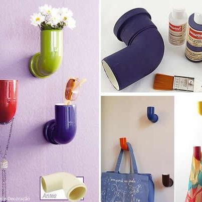 609729 Canos de pvc na decoração 01 Canos de PVC na decoração: Como usar