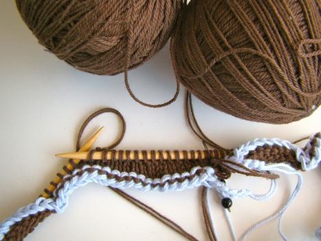 611772 Cachecol de tricô passo a passo 2 Cachecol de tricô, passo a passo