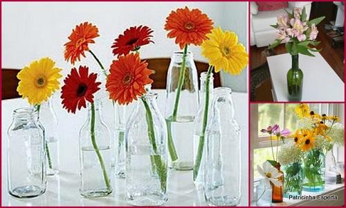 612231 Como reutilizar garrafas de vidro na decoração 03 Como reutilizar garrafas de vidro na decoração