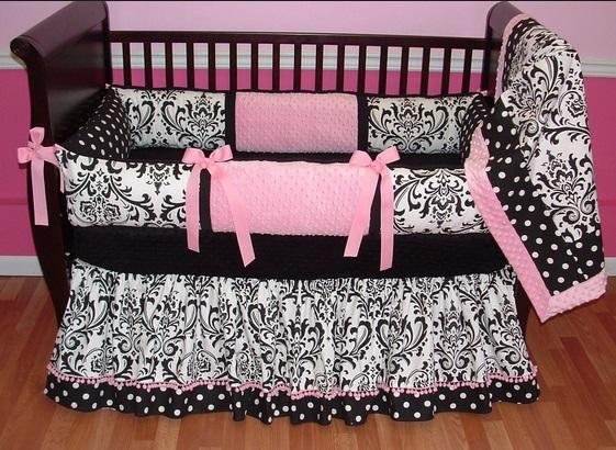 Pink And Black Zebra Nursery Bedding