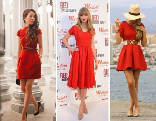 Bolsa Dourada Com Vestido Vermelho : Guarde na bolsa vestidos vermelhos