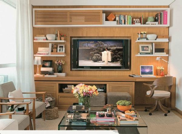 Home Office Na Sala De Tv ~ 615789 Como decorar a estante da sala 3 Como decorar a estante da sala