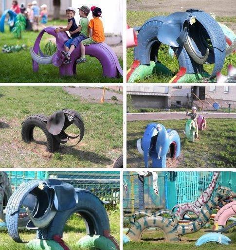 620438 Playground feito de Pneus Como fazer 01 Playground feito de Pneus: Como fazer