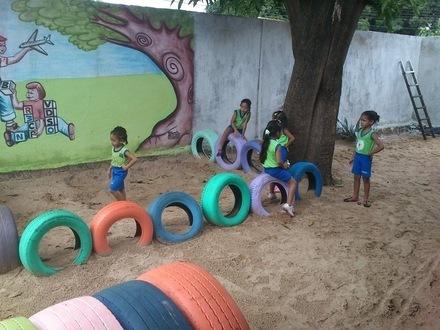 620438 Playground feito de Pneus Como fazer 04 Playground feito de Pneus: Como fazer