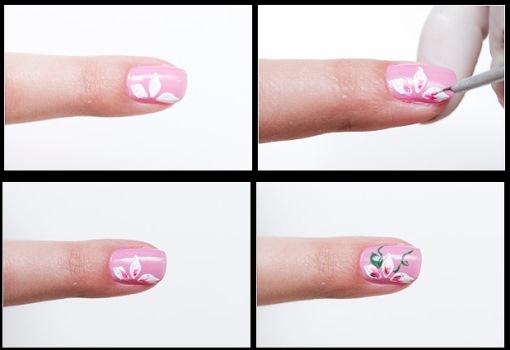 624180 Como fazer flores nas unhas passo a passo Como fazer flores nas unhas, passo a passo