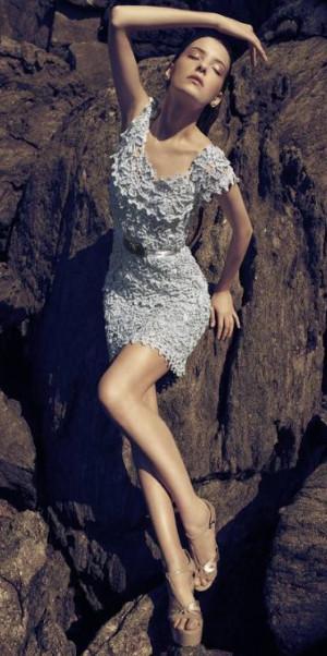 624903 Vestidos curtos de crochê 1 Vestidos curtos de crochê: fotos, modelos