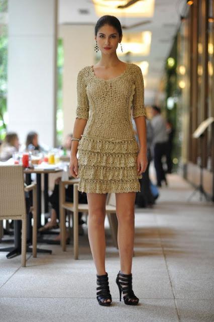 624903 Vestidos curtos de crochê 7 Vestidos curtos de crochê: fotos, modelos