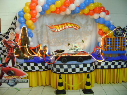 625011 Decoração de festa Hot Wheels 5 Decoração de festa Hot Wheels