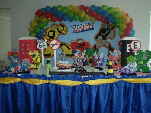 festa infantil Transformers Decoração de festa infantil Transformers