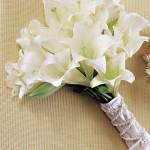 642358 Buquê redondo com poucas flores. 150x150 Buquês de noiva simples: fotos