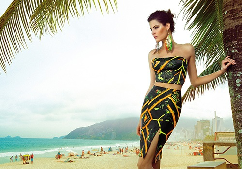 643857 A belíssima Isabeli Fontana estreia a nova coleção verão 2014 Morena Rosa. Morena Rosa Coleção Verão 2014