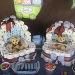 645209 As fraldas podem ser usadas na decoração. Foto divulgação 150x150 Chá de bebê de gêmeos: ideias para decorar