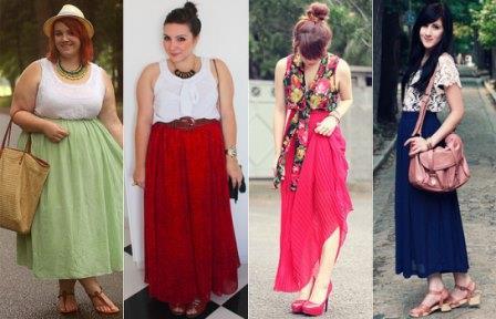 647868 São diversas as opções de modelos de saias longas. Foto divulgação Saia longa para gordinhas: dicas para usar