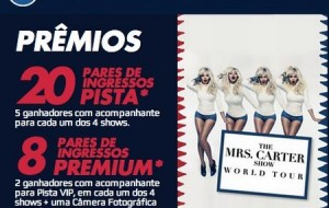 Promoção Pepsi Ingressos para Show da Beyoncé