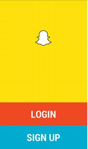 Snapchat sign up image