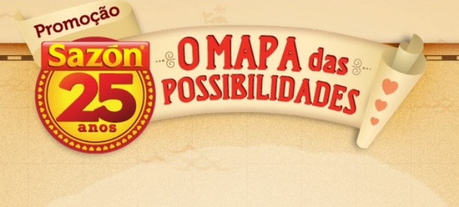 656192 Promoção Sazon 25 Anos O Mapa das Possibilidades Promoção Sazon 25 Anos O Mapa das Possibilidades