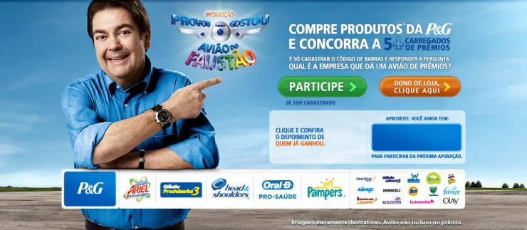 656433 promocao peg aviao campeao do faustao 01 Promoção P&G Avião Campeão do Faustão