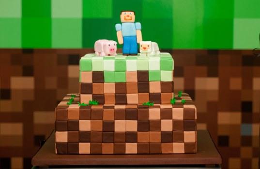 662087 Decoração de aniversário tema Minecraft 2 Decoração de aniversário tema Minecraft