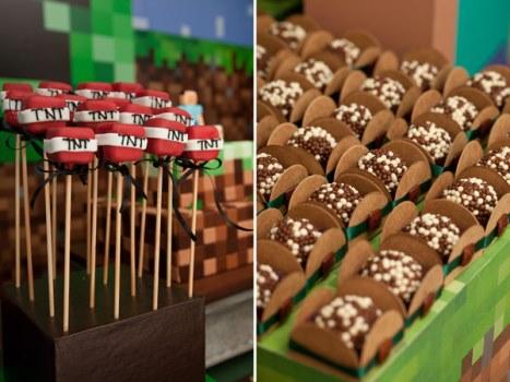 662087 Decoração de aniversário tema Minecraft 3 Decoração de aniversário tema Minecraft