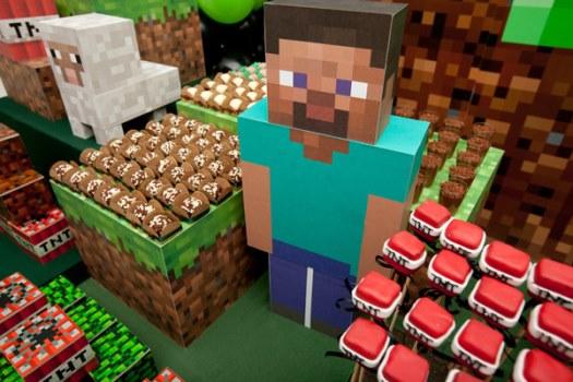 662087 Decoração de aniversário tema Minecraft 4 Decoração de aniversário tema Minecraft