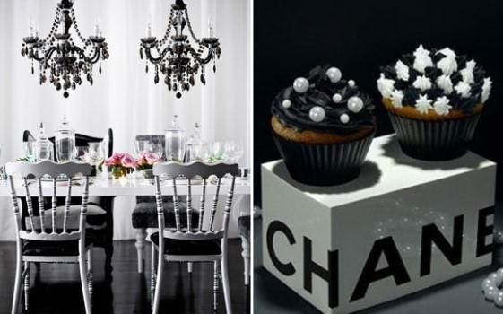 de festa preto e branco Decoração de festa preto e branco