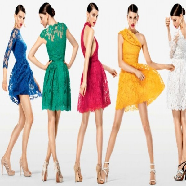 664242 Vestidos de renda coloridos modelos fotos.1 600x600 Vestidos de renda coloridos: modelos, fotos