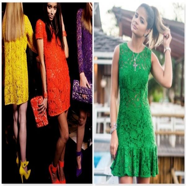 664242 Vestidos de renda coloridos modelos fotos.2 600x600 Vestidos de renda coloridos: modelos, fotos