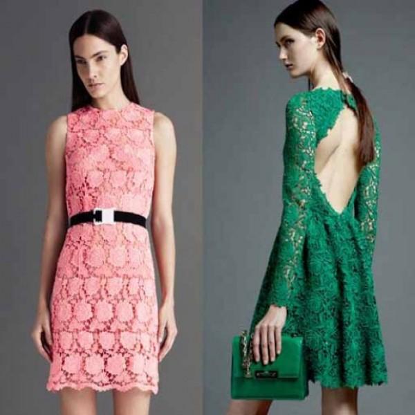 664242 Vestidos de renda coloridos modelos fotos.3 600x600 Vestidos de renda coloridos: modelos, fotos