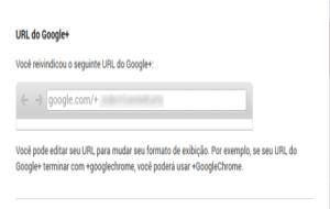 Como criar url personalizada no Google+