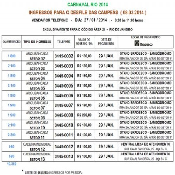 671735 ingressos carnaval rio 2014 informacoes onde comprar 2 600x600 Ingressos carnaval Rio 2014: informações, onde comprar