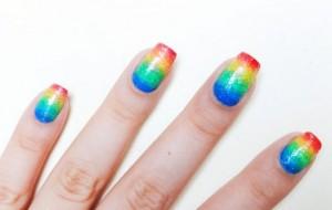 Carnaval-como fazer unha degradê colorida.1