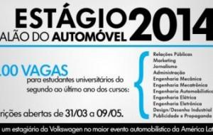 Volkswagen oferece vagas de estágio para o Salão do Automóvel 2014