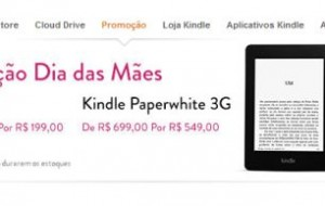 Amazon oferece descontos no Kindle para o Dia das Mães