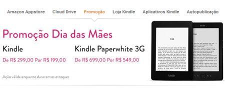 Amazon oferece descontos no Kindle para o Dia das Mães