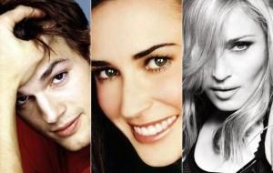 Ashton Kutcher motivou briga entre Demi Moore e Madonna