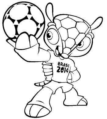 Desenhos para colorir da Copa do Mundo 2014