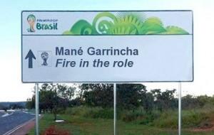 Placas e avisos errados para a Copa do Mundo no Brasil