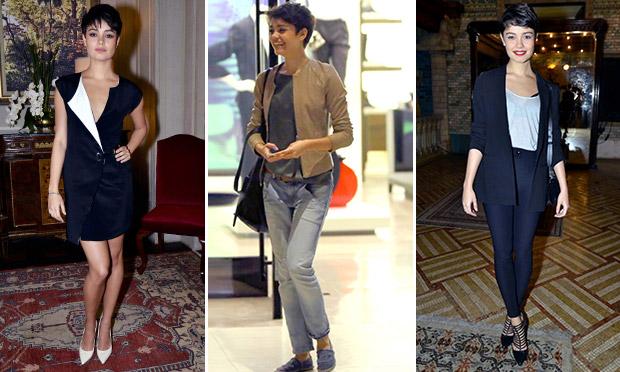 Sophie Charlotte fica na moda com roupas masculinas