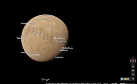 Google Maps agora tem versões da Lua e de Marte